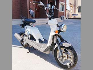 横浜市瀬谷区内で無料で引き取り処分と廃車手続き代行をした原付バイクのホンダ バイト(BA-AF59型) クラシカルホワイト