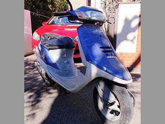 小金井市貫井南町で無料で引き取り処分と廃車手続き代行をした原付バイクのホンダ 『タクト スタンドアップ(A-AF24)』 ブルー
