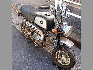 江戸川区で無料で引き取り処分と廃車手続き代行をした原付バイクのホンダ ゴリラ(A-Z50J)
