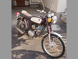 市原市で無料で引き取り処分と廃車手続き代行をした原付バイクのヤマハ YB-1 ミヤビマルーン×クリーム