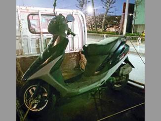 足立区入谷で無料で引き取り処分と廃車手続き代行をした原付バイクのホンダ スーパーDio(後期型) グリッタブラック