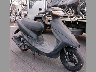 宇都宮大学にある原付バイクのホンダ ライブDio S ブラックを無料で引き取り処分
