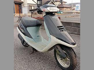真岡市で無料で引き取り処分と廃車手続き代行をした原付バイクのホンダ スタンドアップ・タクト ブラック
