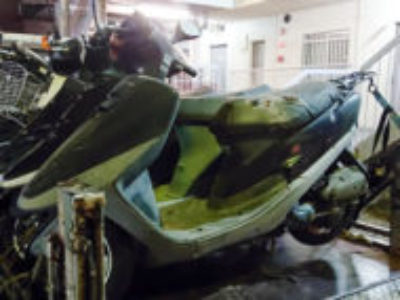 宇都宮市にある原付バイクのホンダ タクト(六代目 A-AF30)を無料引き取り処分と廃車手続き代行
