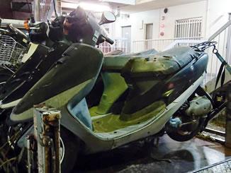 宇都宮市で無料で引き取り処分と廃車手続き代行をした原付バイクのホンダ 六代目タクト(A-AF30) ブラック