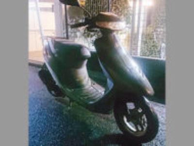 横浜市青葉区にある原付バイクのホンダ スーパーDio ブラック色を無料で引き取り処分