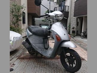 東京都足立区で無料で回収処分と廃車手続き代行をした原付バイクのスズキ レッツ4 シルバー